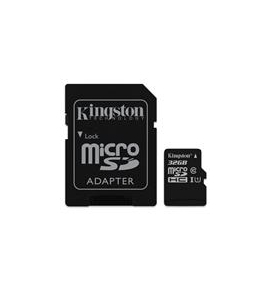 microSDHC Kingston Canvas select 32GB UHS-I CL10 80Read + SD Adapter