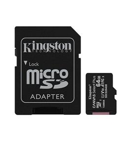 microSDHC Kingston Canvas select 64GB Class U1 UHS-I SDS+sd Adapter