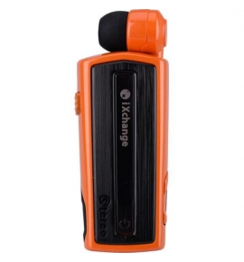 Retractable Bluetooth Headset with vibrator iXchange UA28 Orange